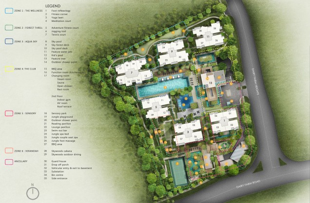 The Skywoods site plan