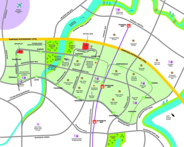 bellewaters ec location map