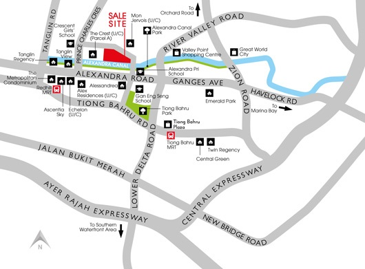 Prince charles crescent parcel b location map