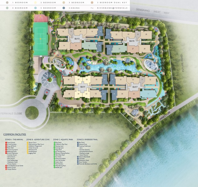riverbank site plan