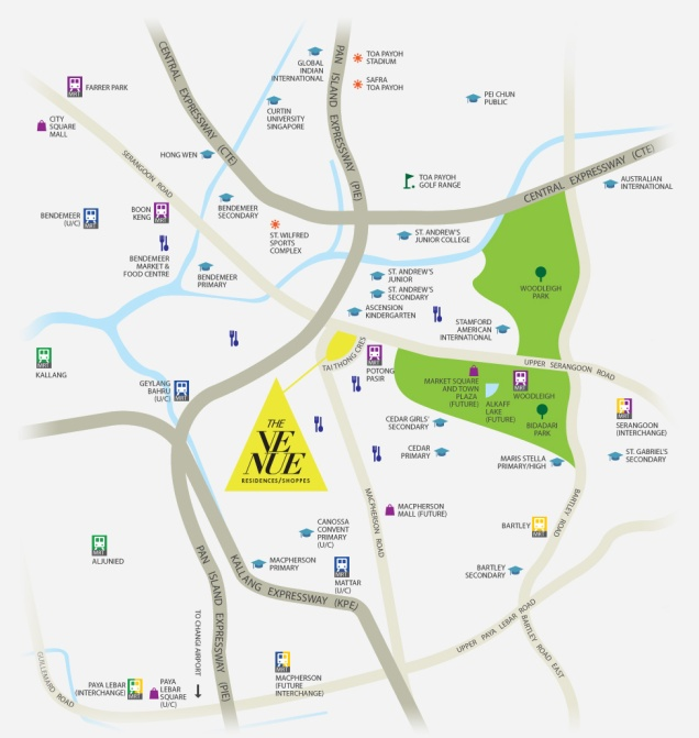 venue residences location map