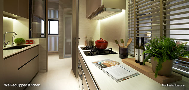 venue residences well-equipped kitchen