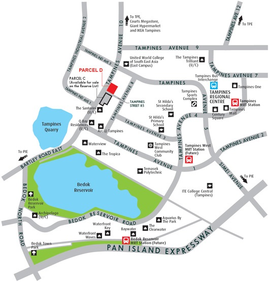 Tampines Avenue 10 (Parcel D) location map