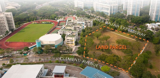 clementi ave 1 aerial view