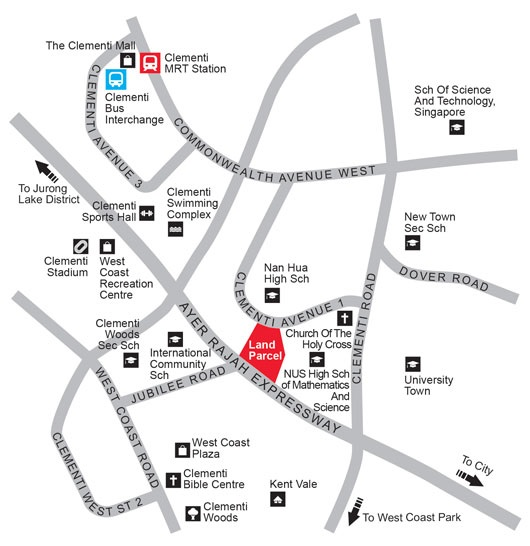 clementi ave 1 location map