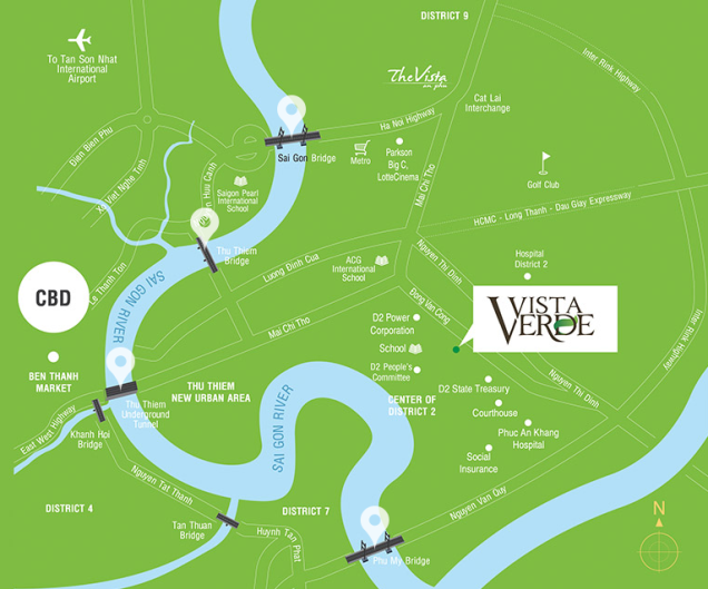Vista Verde Vietnam location map