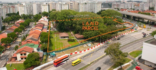 lorong lew lian aerial view