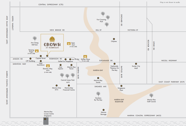 crown at robinson location map 2