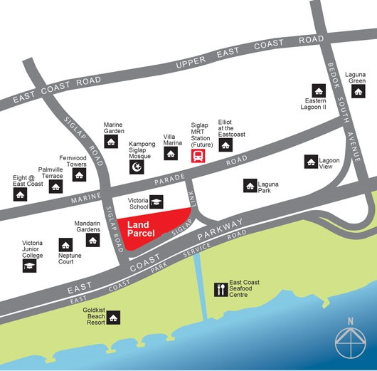 siglap road location map
