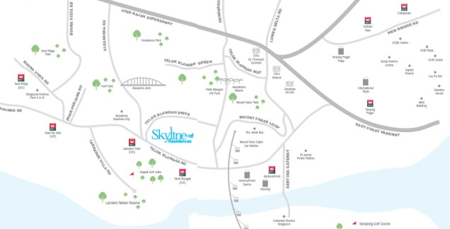skyline residences location map