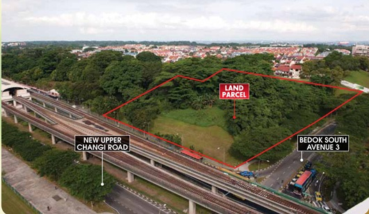 New Upper Changi Road Bedok South Avenue 3 Parcel B aerial view