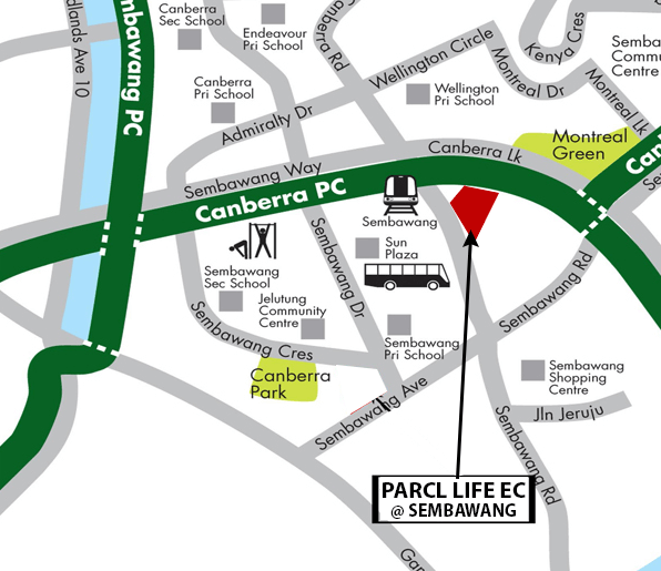 parc life ec location map