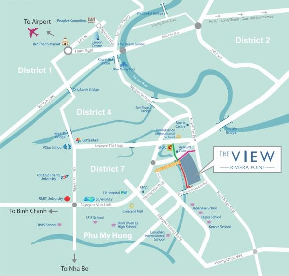 the view hcmc location map