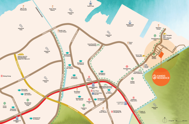 kandis residences location map