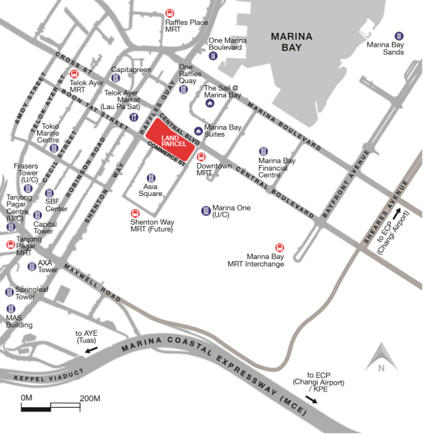 central boulevard location map