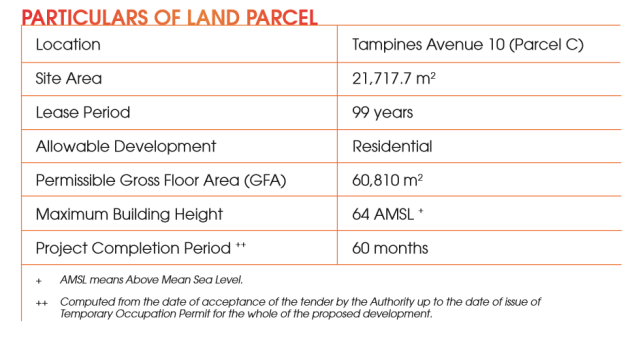 tampines avenue 10 land particulars