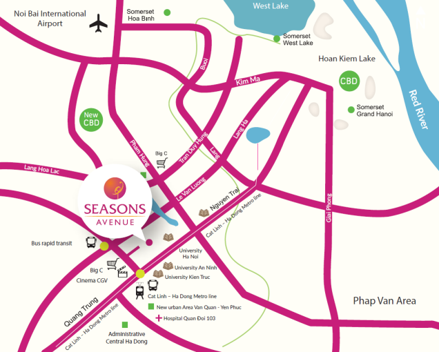 season avenue location map