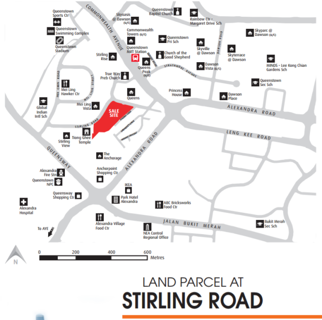 stirling road location map