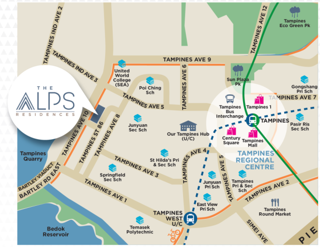 alps residences location map