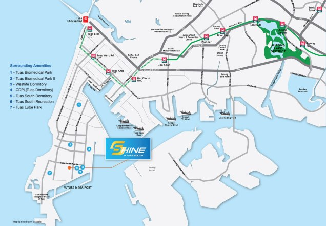 Shine at Tuas south location map