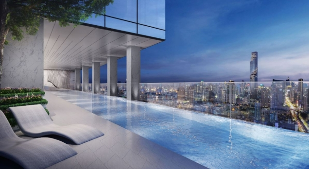 the line sathorn pool view