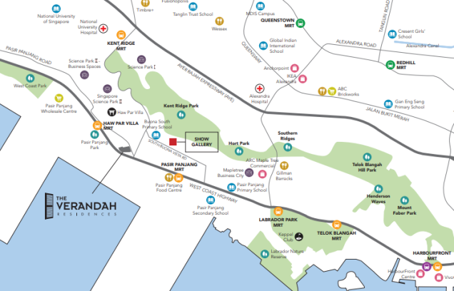 the verandah residences location map