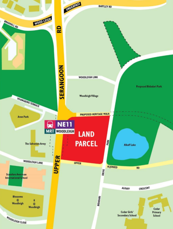 woodleigh residences location map