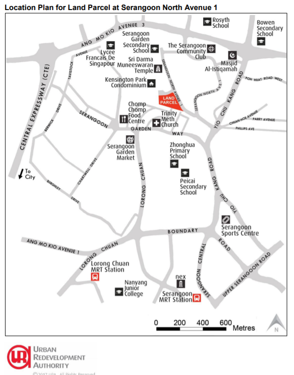 serangoon north ave 1 location map